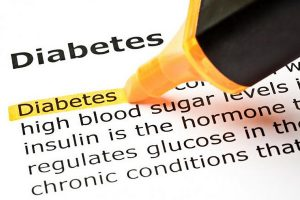Highlighting the word Diabetes