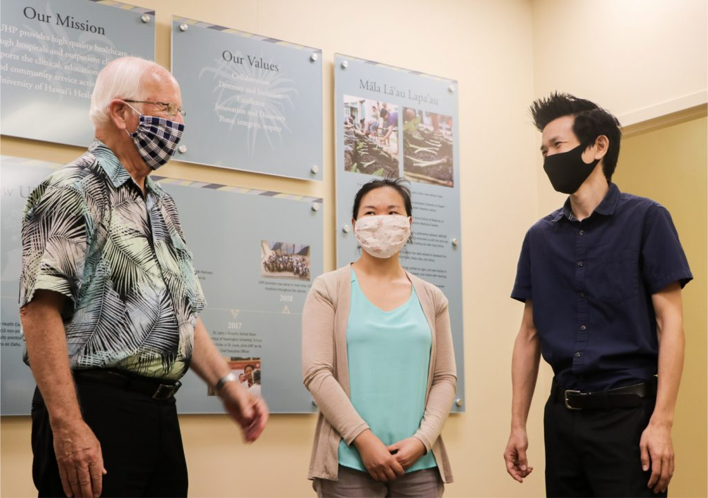 Dr. Larry Shapiro and University Health Partners of Hawaii Medical Students